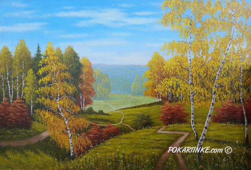 Осенние тропы - картинная галерея PoKartinke.com