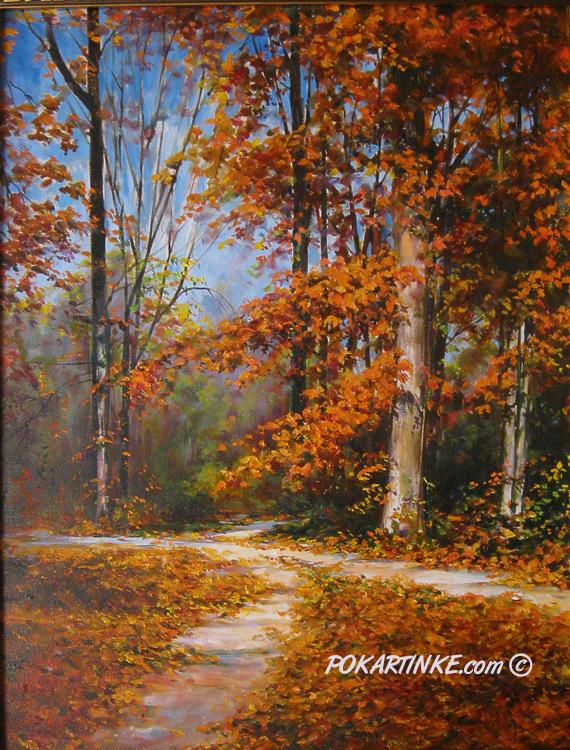 Осенний парк - картинная галерея PoKartinke.com