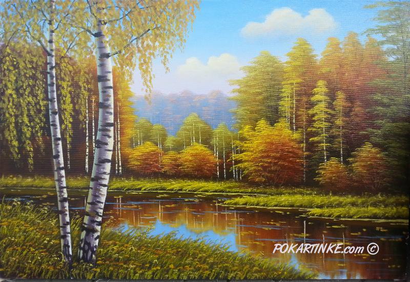 Осенний пейзаж - картинная галерея PoKartinke.com