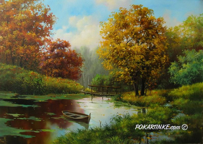 Осенний пруд - картинная галерея PoKartinke.com