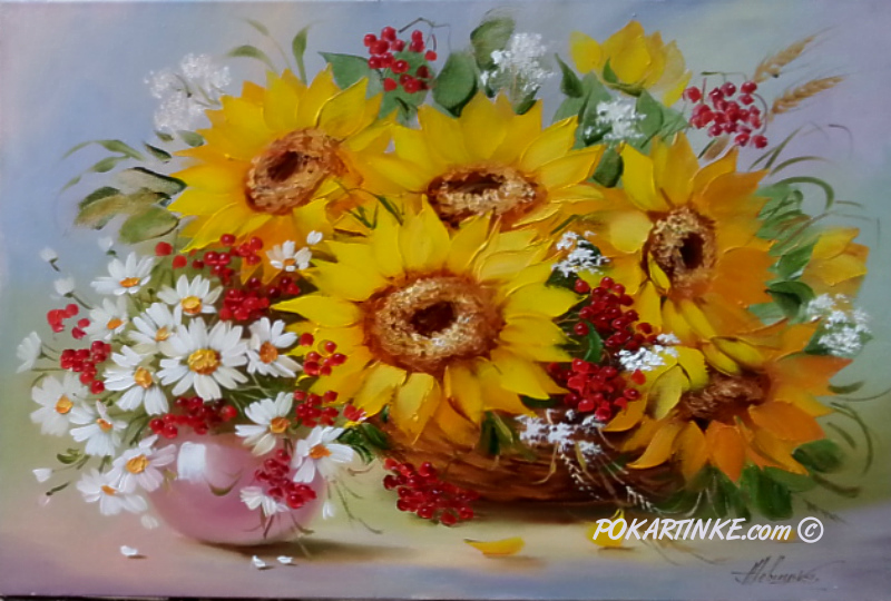 Осенняя композиция - картинная галерея PoKartinke.com