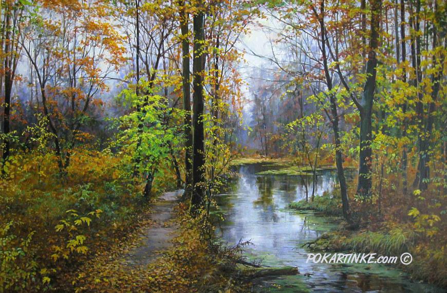 Осенняя прогулка - картинная галерея PoKartinke.com