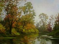Осень. река.