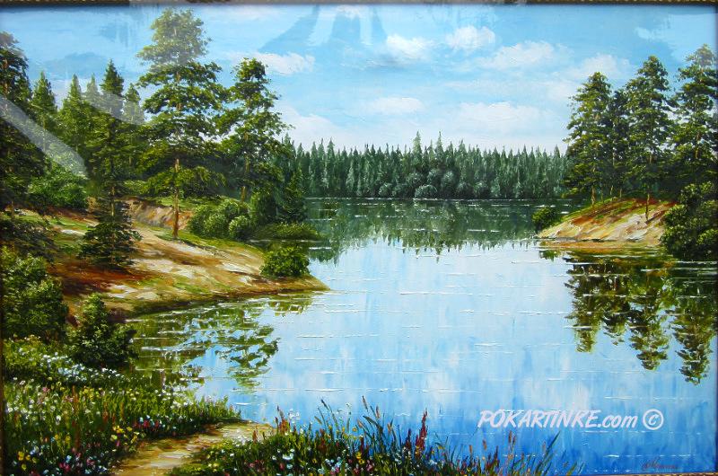 Отражение в воде - картинная галерея PoKartinke.com