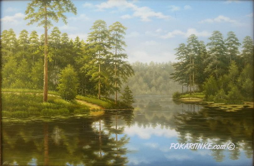 Отражаясь в воде - картинная галерея PoKartinke.com