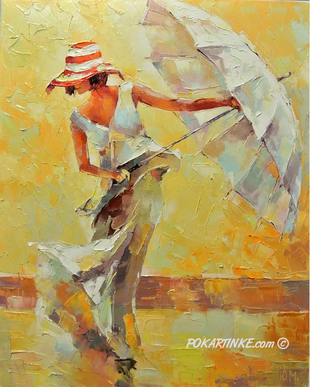 Леди с зонтом - картинная галерея PoKartinke.com