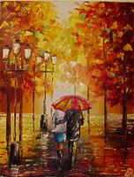 Осенний парк для двоих