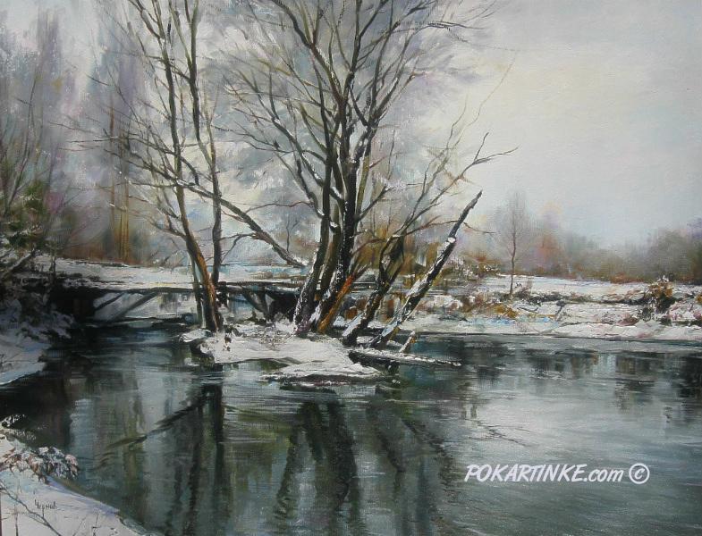 Первый снег - картинная галерея PoKartinke.com
