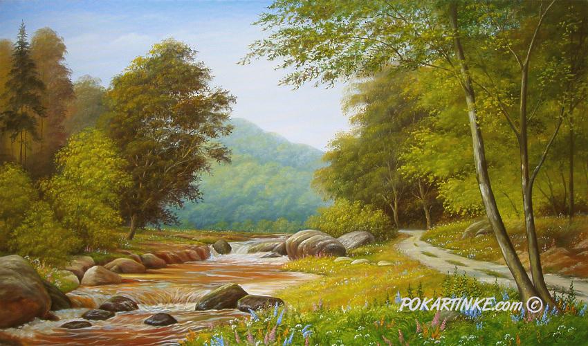 Пейзаж с речкой - картинная галерея PoKartinke.com