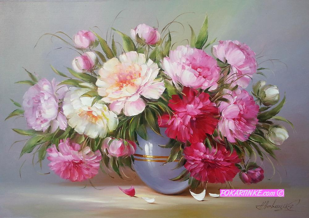 Пышные пионы - картинная галерея PoKartinke.com