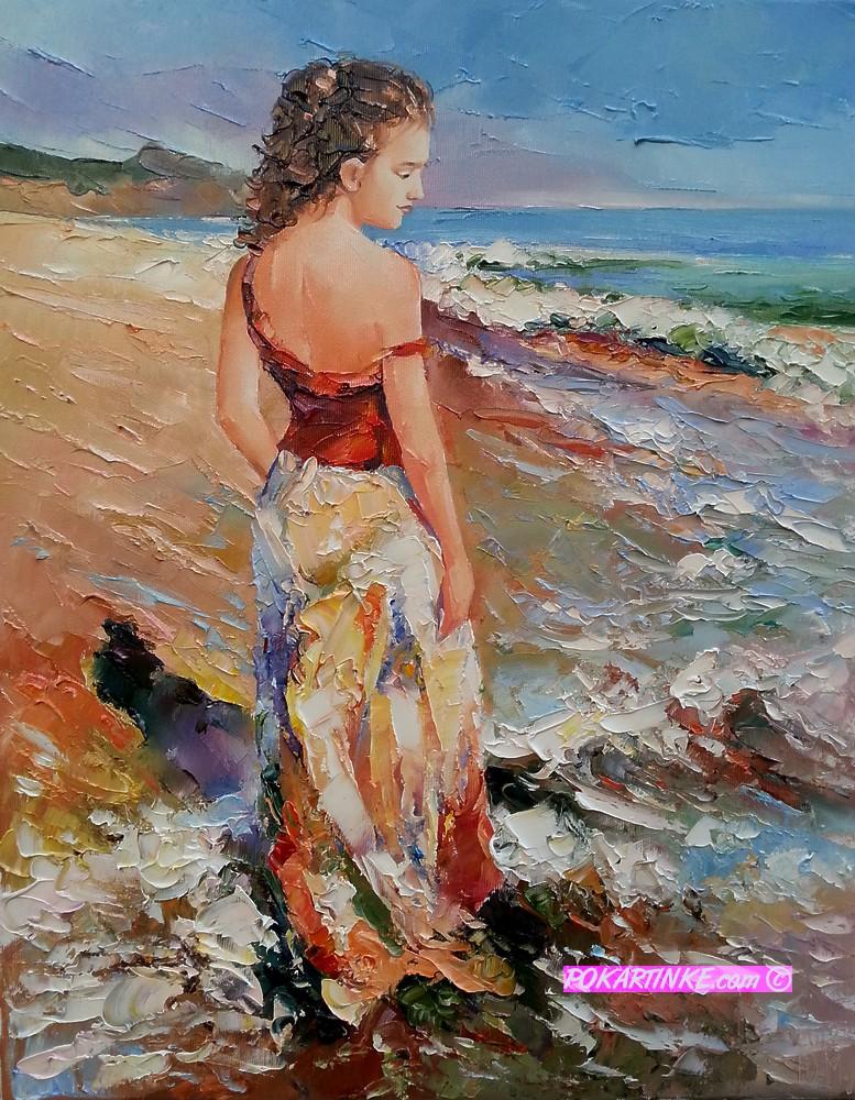 Ласкающие волны - картинная галерея PoKartinke.com