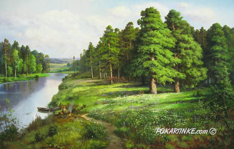 После рыбалки - картинная галерея PoKartinke.com