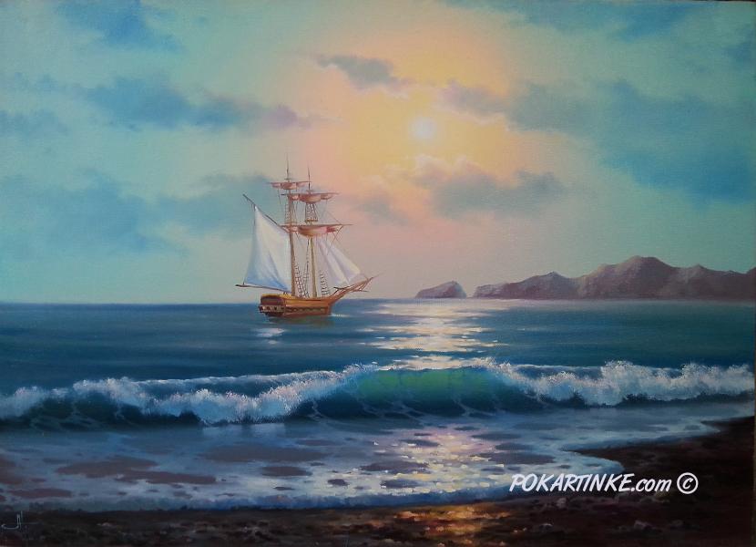 Раннее море - картинная галерея PoKartinke.com