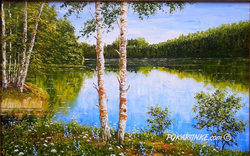 Разлив на реке - картинная галерея PoKartinke.com
