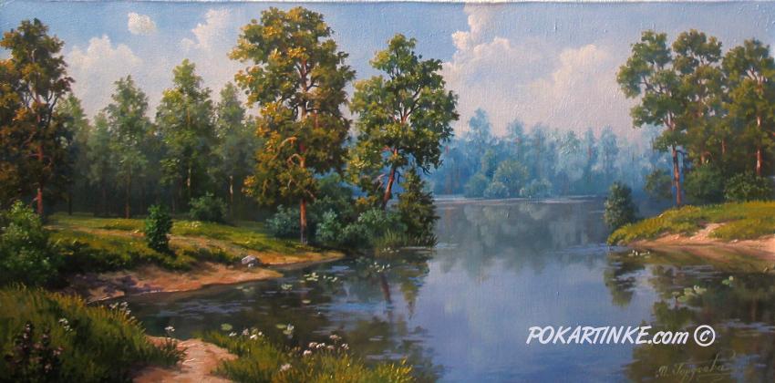 Разлив реки - картинная галерея PoKartinke.com