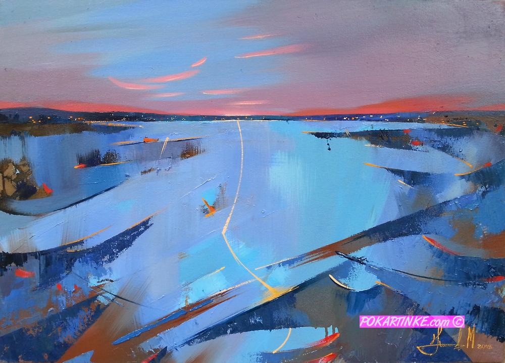 Долина реки - картинная галерея PoKartinke.com