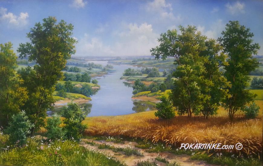 Речные берега - картинная галерея PoKartinke.com