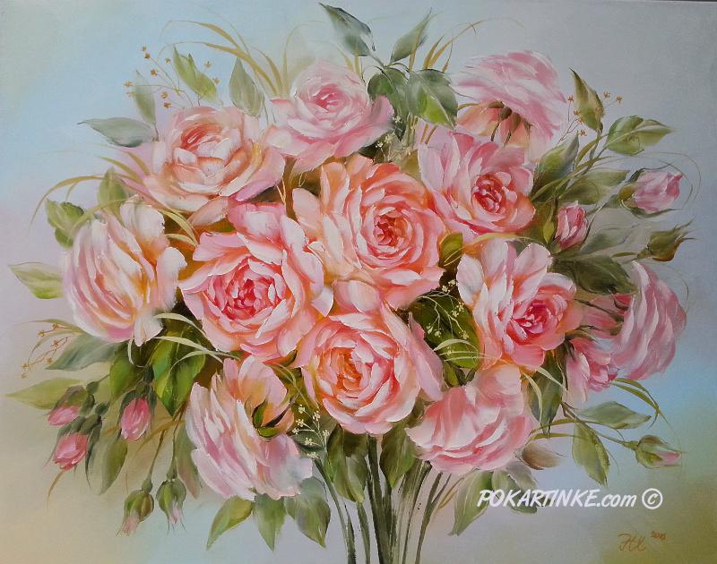 Рожеві трояндочки - картинная галерея PoKartinke.com