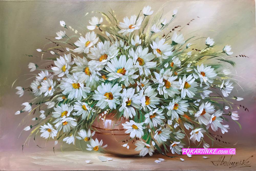 Белоснежные ромашки - картинная галерея PoKartinke.com