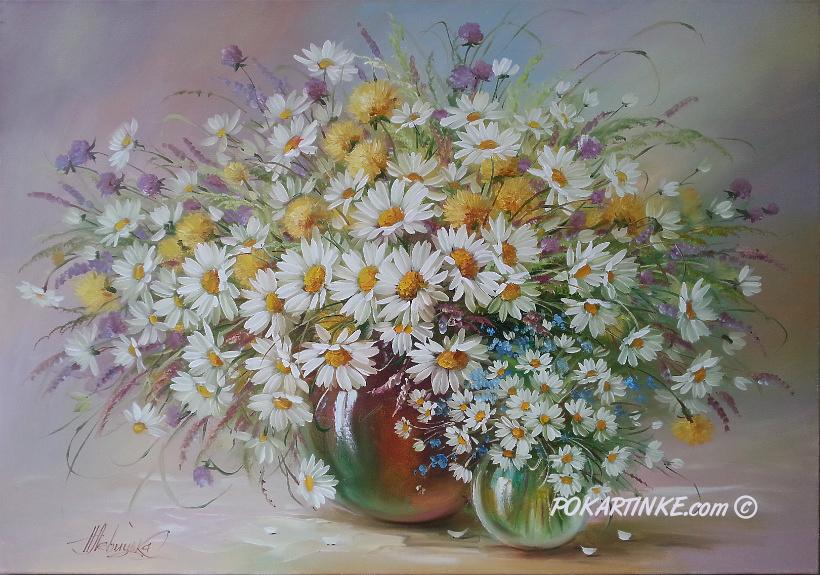 Ромашки большие и маленькие - картинная галерея PoKartinke.com