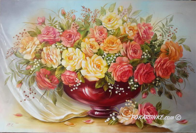 Розы с вуалью - картинная галерея PoKartinke.com