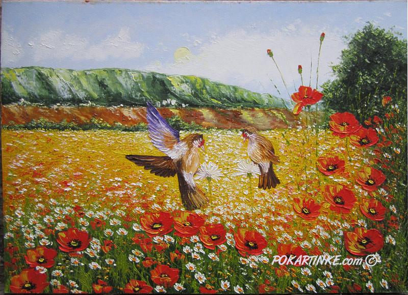 Щеглы - картинная галерея PoKartinke.com