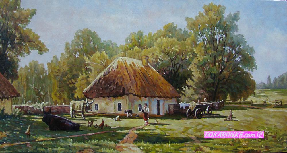 Сельский пейзаж - картинная галерея PoKartinke.com