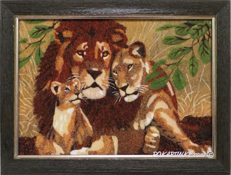 Семья львов - картинная галерея PoKartinke.com