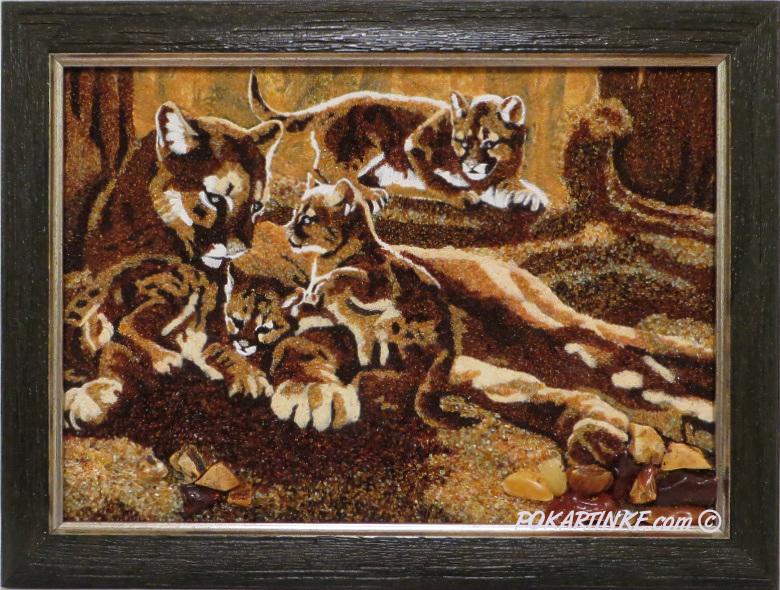 Семья пантер - картинная галерея PoKartinke.com