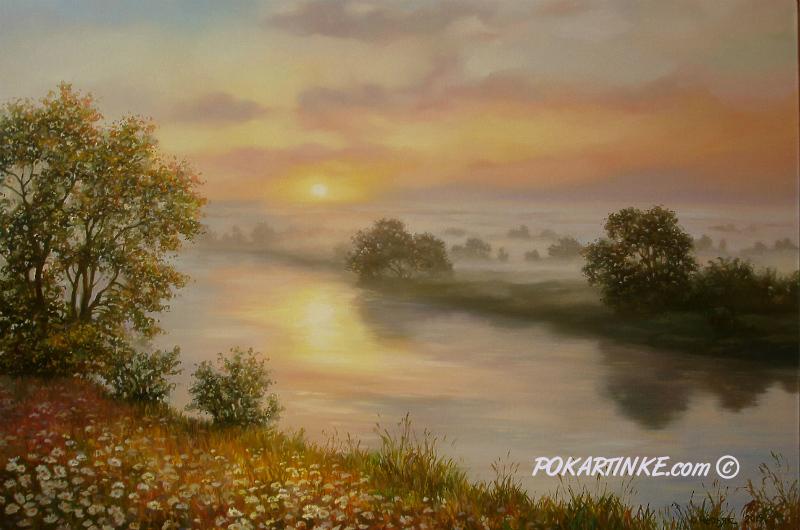 Схід сонця на Десні - картинная галерея PoKartinke.com