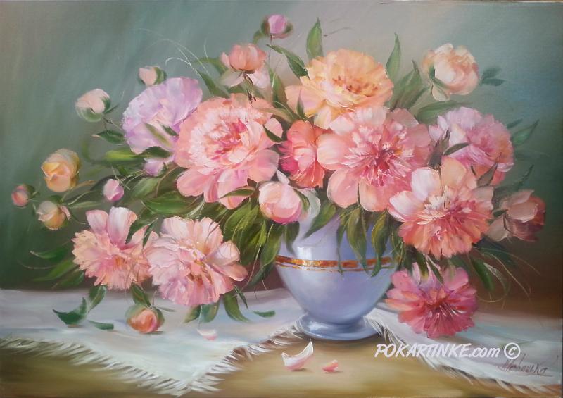 Шикарный букет пионов - картинная галерея PoKartinke.com