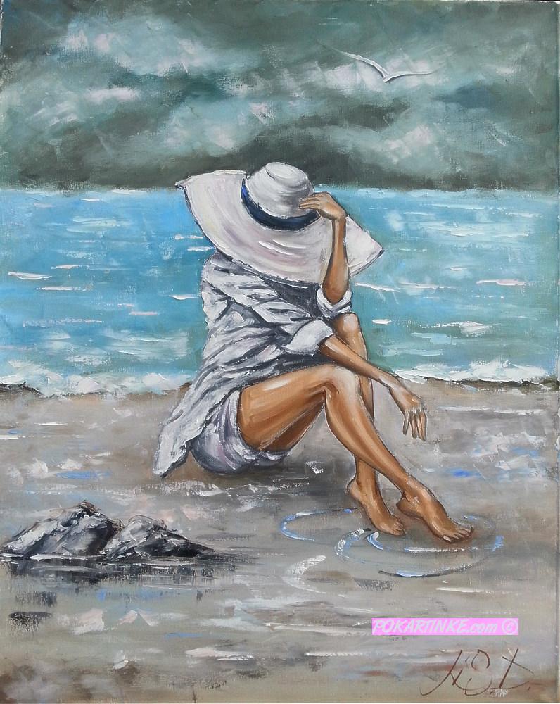 На пляже - картинная галерея PoKartinke.com