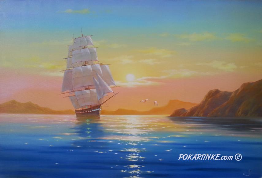 Штиль на рассвете - картинная галерея PoKartinke.com