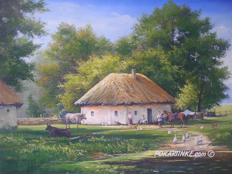 Сільське подвір'я - картинная галерея PoKartinke.com