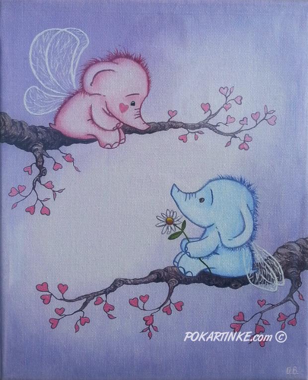 Милые слоники - картинная галерея PoKartinke.com