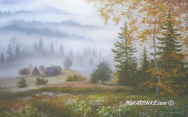 Карпати. Смерекова хата - картинная галерея PoKartinke.com