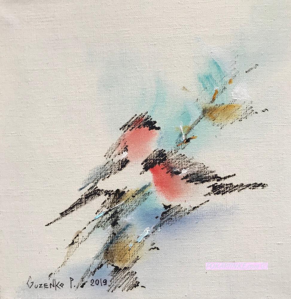 Две птицы - картинная галерея PoKartinke.com