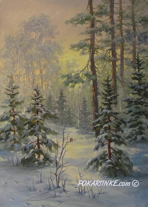 Снегири - картинная галерея PoKartinke.com