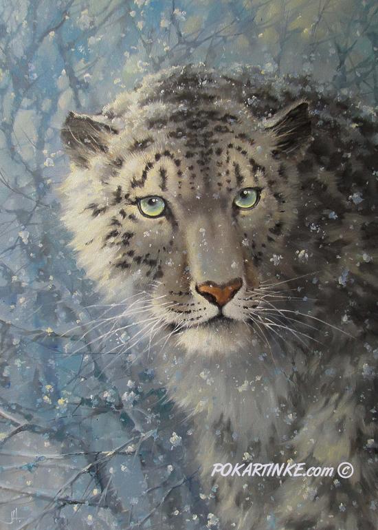 Снежный барс - картинная галерея PoKartinke.com