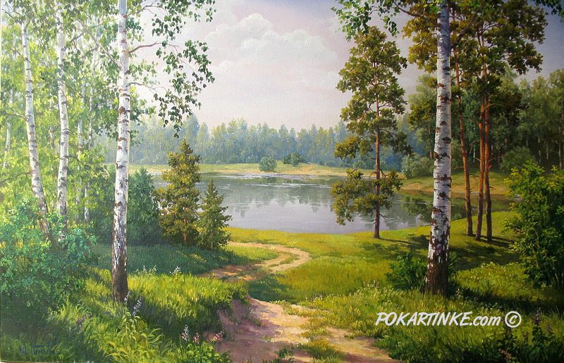 Сосны и березы - картинная галерея PoKartinke.com