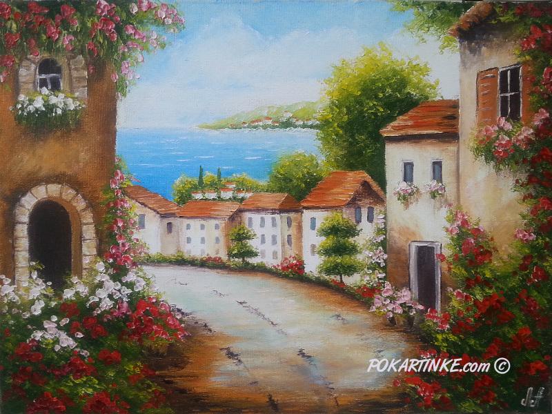 Приморский городок - картинная галерея PoKartinke.com