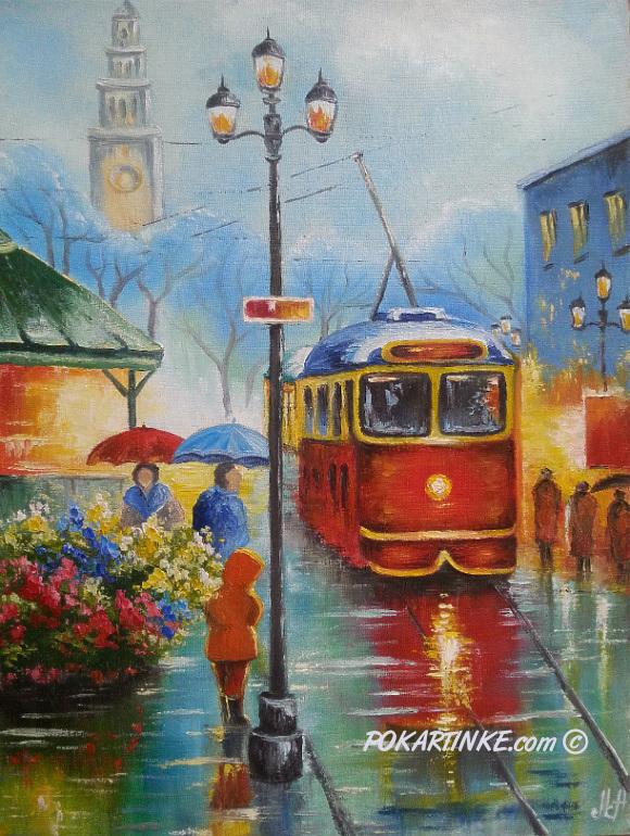 Старый трамвай - картинная галерея PoKartinke.com