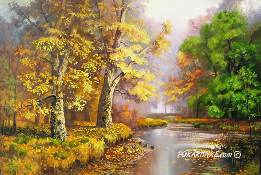Таинственная осень - картинная галерея PoKartinke.com