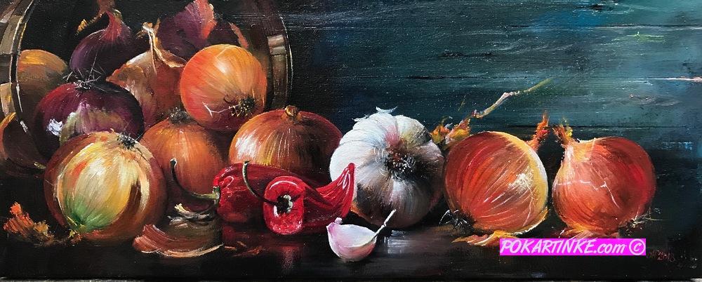 Лук, чеснок и красный перец - картинная галерея PoKartinke.com