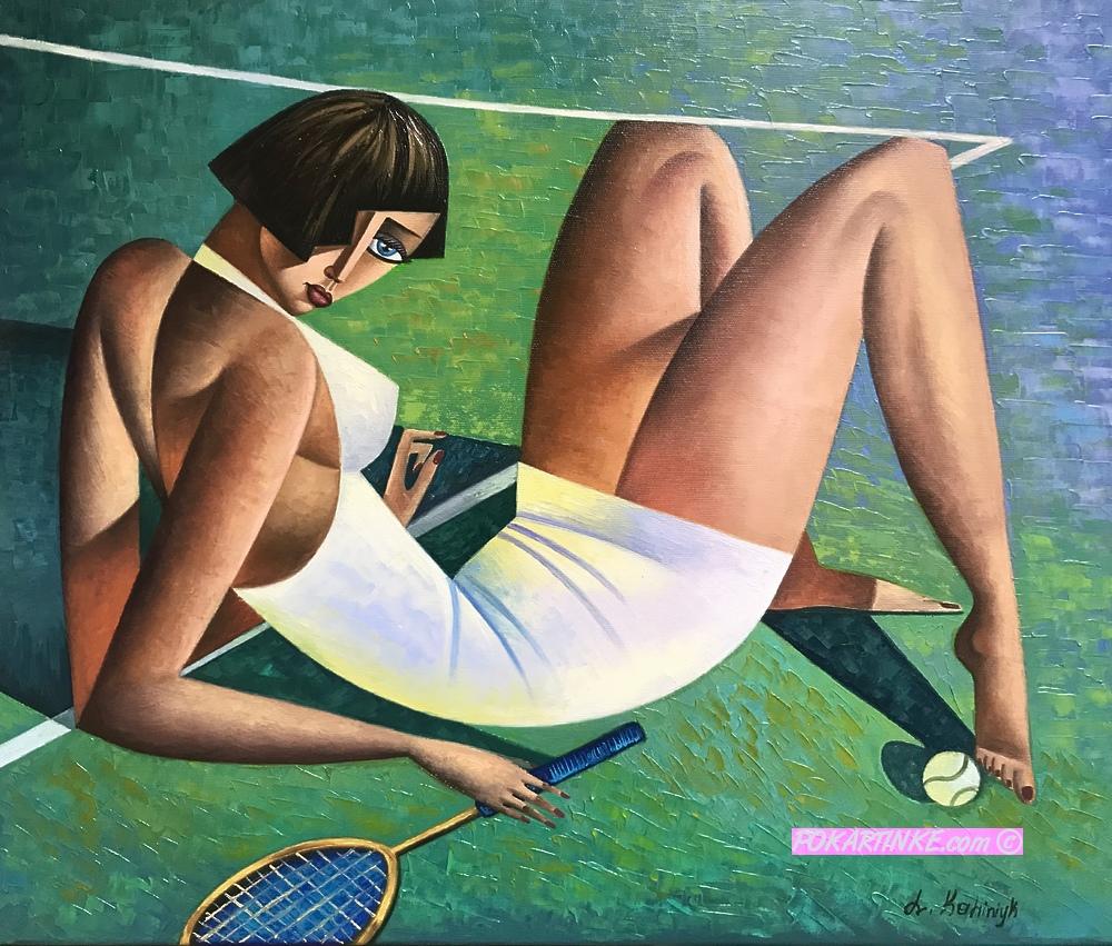 Игра в теннис - картинная галерея PoKartinke.com
