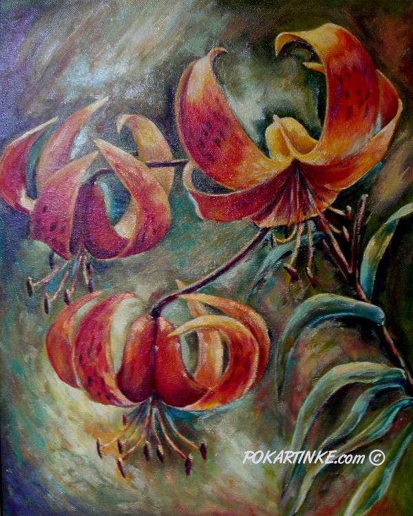 Тигровые лилии - картинная галерея PoKartinke.com