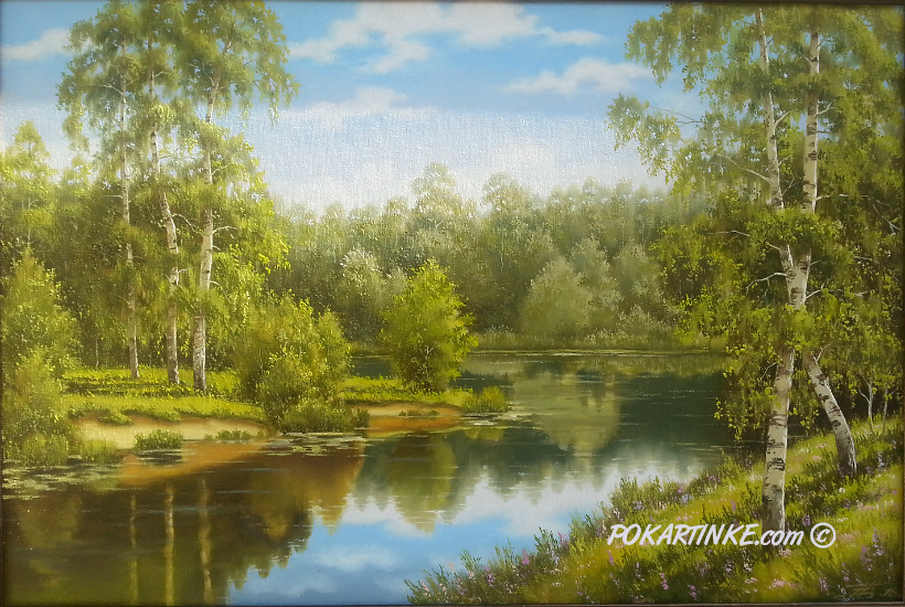 Тихая река - картинная галерея PoKartinke.com