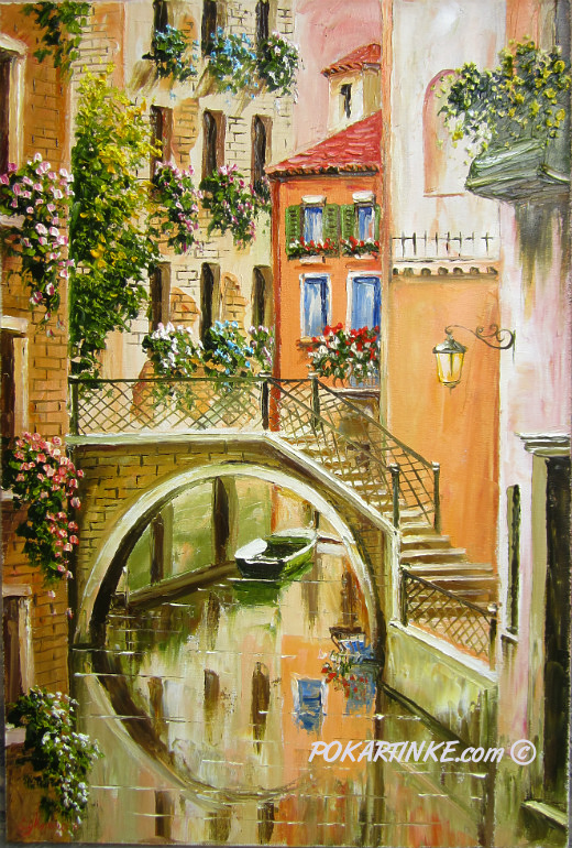 Тихая улочка Венеции - картинная галерея PoKartinke.com