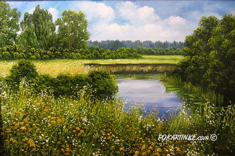 Тихое озеро - картинная галерея PoKartinke.com