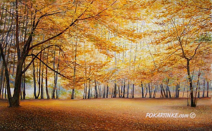Тихой осенью - картинная галерея PoKartinke.com
